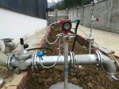 汉中天然气管道V锥流量计测量现场图